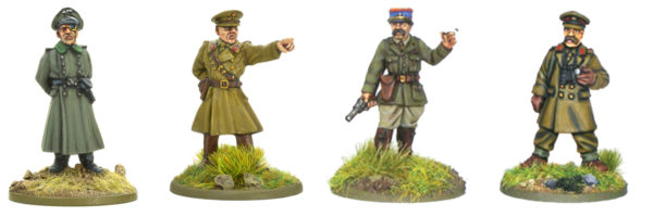A selection of senior officers from some of our early war command blisters.