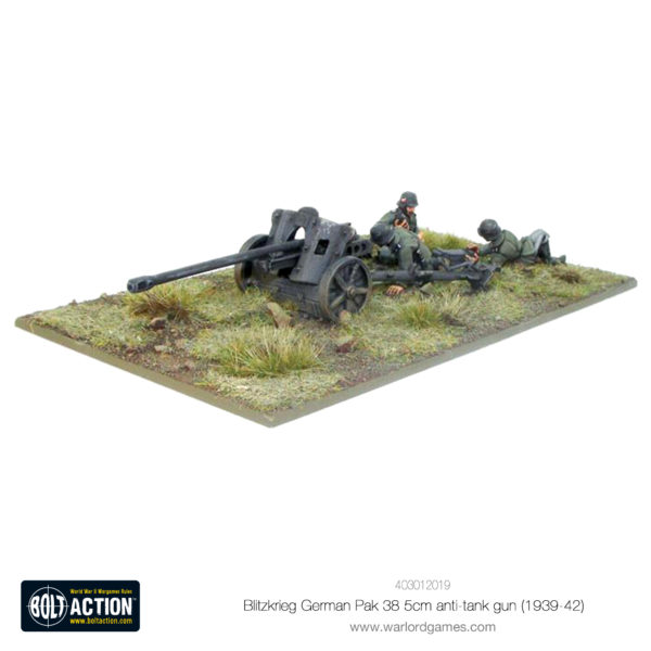 Blitzkrieg German Pak 38 5cm anti-tank gun