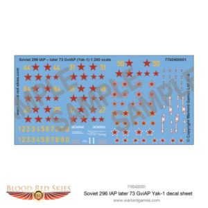 Yak 1 decal sheet
