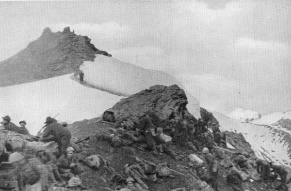 An Alpini battalion garrisons a windswept mountain peak.