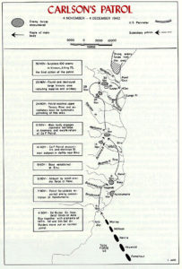 The route of Carlson's patrol. Long Patrol