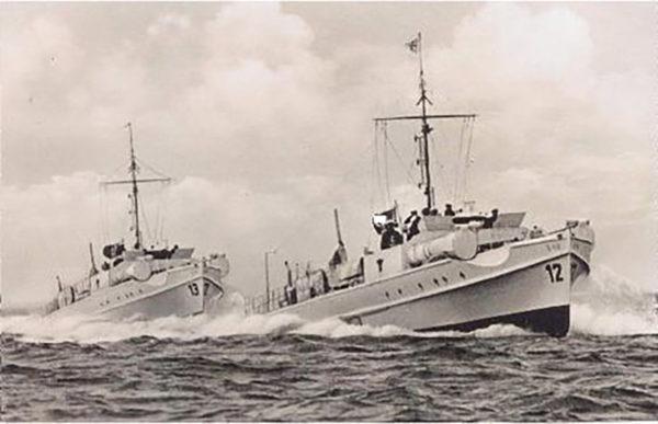 Two Kriegsmarine E-Boats underway.