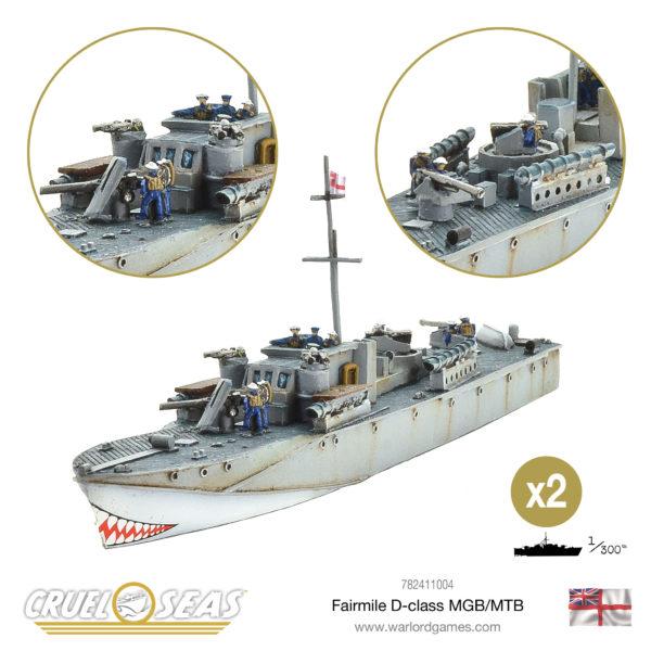 Cruel Seas Fairmile D-class MGB MTB