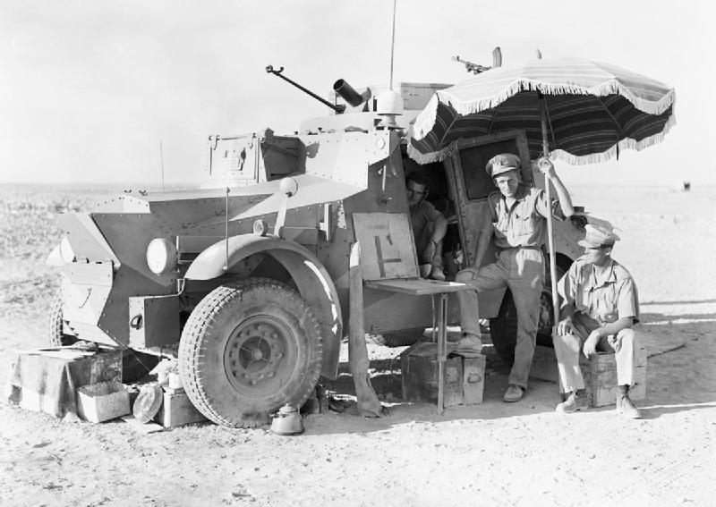A Morris CS-9 of the 11th Hussars, somewhere in the Western Desert.