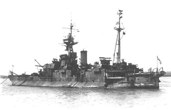 HMS Abercrombie during the Second World War. Monitor.