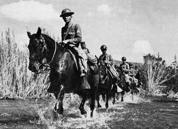 Philippine cavalry scouts during the battle of Bataan.