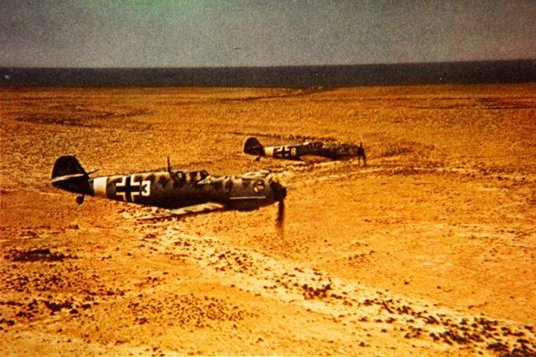 Bf 109Es of JG.27 flying over North Africa.