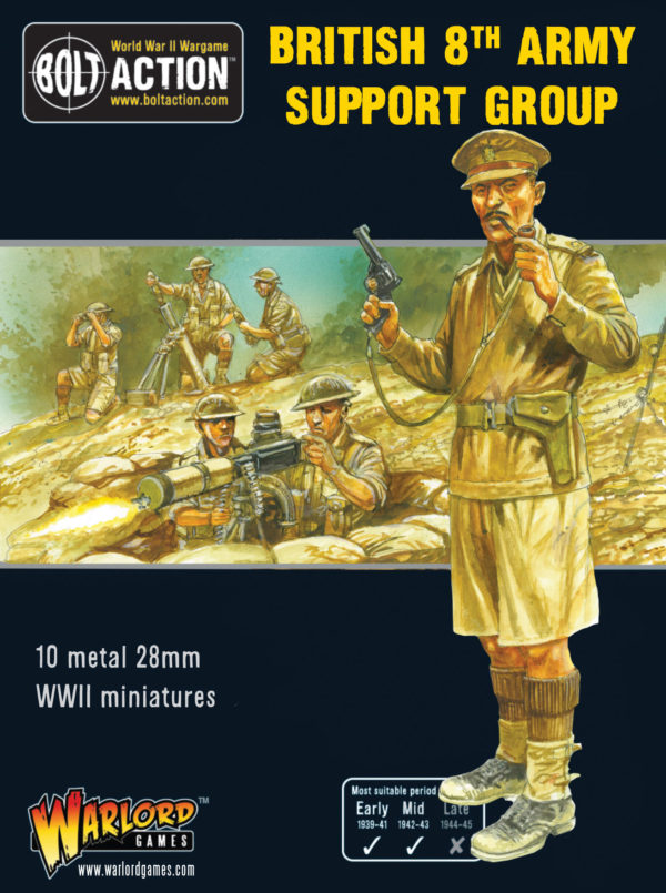 Front box cover picture of the British 8th Army Support Group