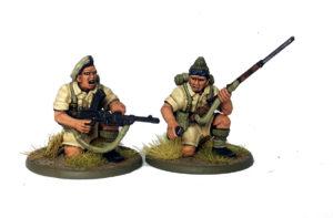 British Commonwealth Bren Gun Team, showing two new heads