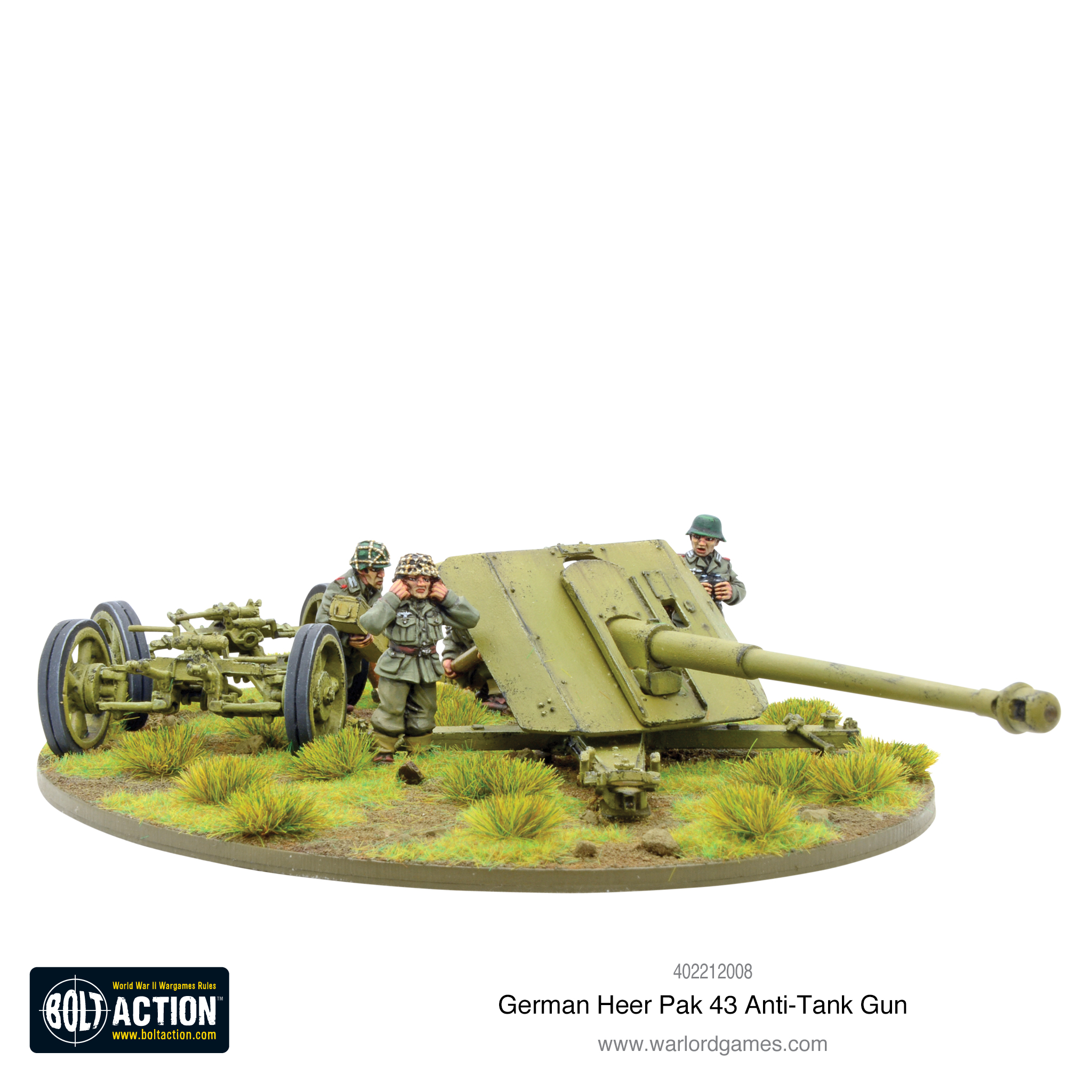 New: German Heer Pak 43 anti-tank gun - Warlord Games