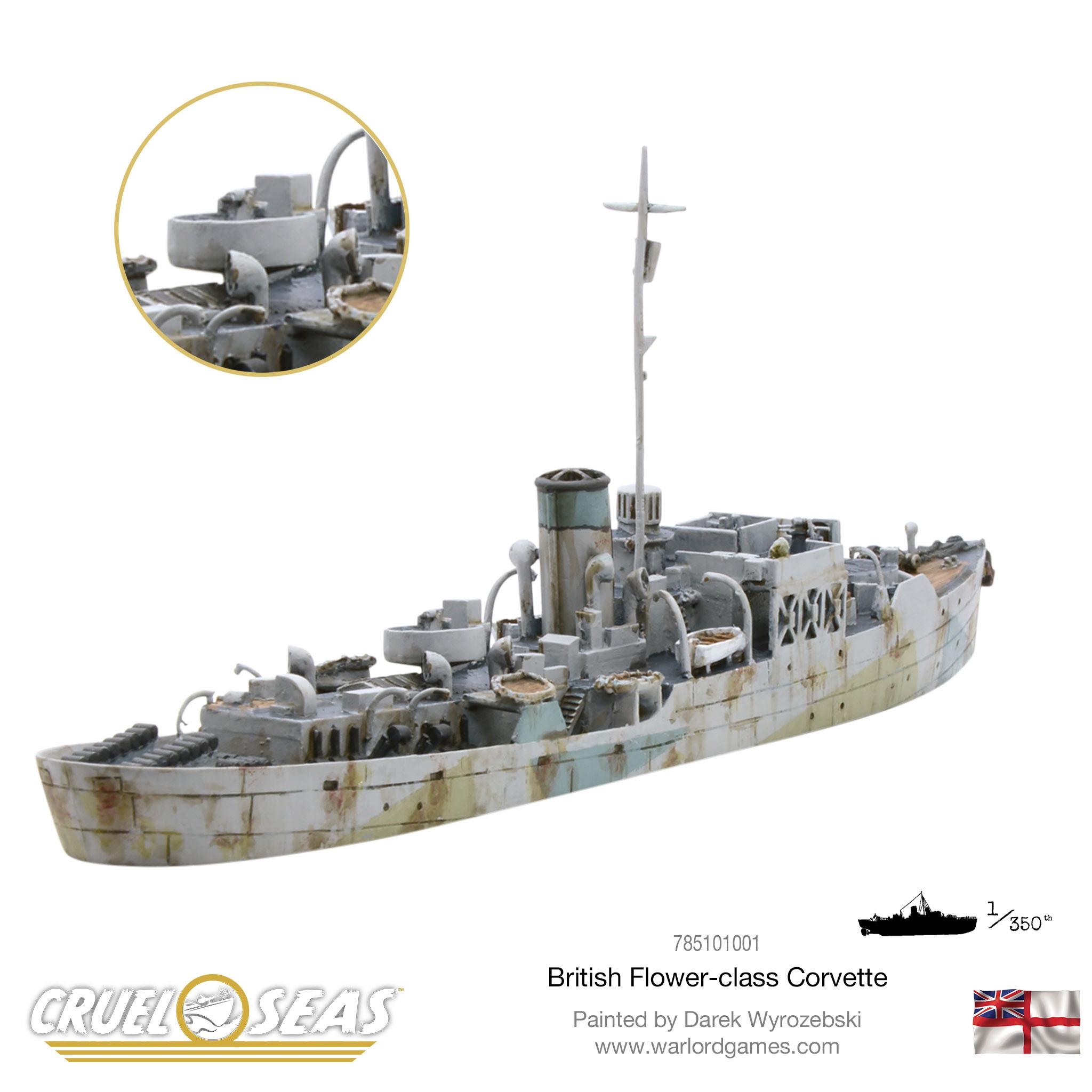 New: Cruel Seas - Flower-class Corvette - Warlord Games