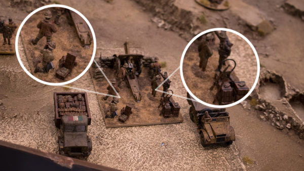 This light howitzer has been taken to the next level with a custom-built sandbag emplacement and a whole swathe of extra details on the base. Pete's added the crew's personal weapons along with some water carriers and ammunition to bring this mini-diorama to life.