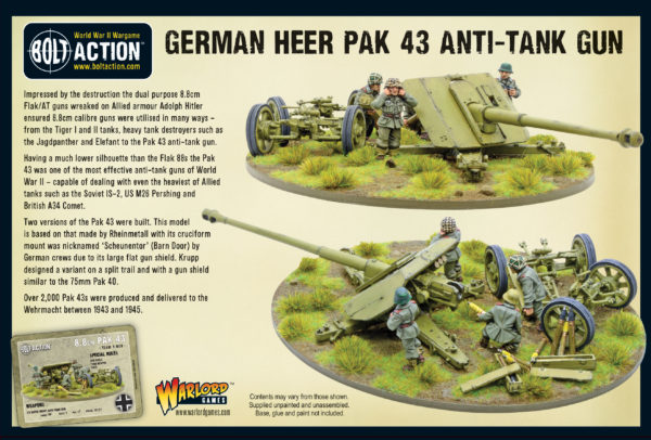 Pak 43 anti-tank gun with its 5 man crew