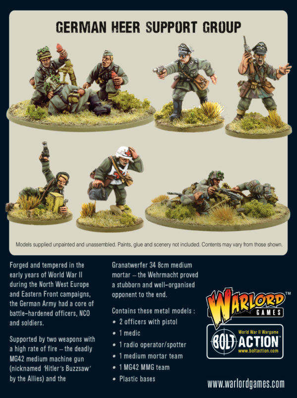 German Heer Support Group - back of the box