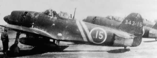 N1K-1 'Shiden Kai flown by Naoshi Kanno, a squadron commander within the 343rd Air Group