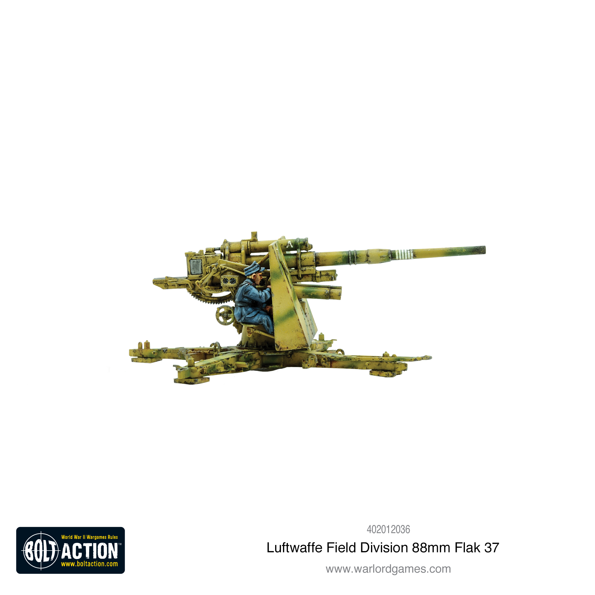 New: Luftwaffe Field Division 88mm Flak 37 - Warlord Games