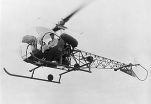 Bell 47 in flight