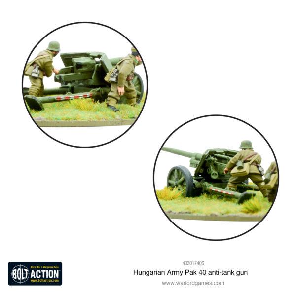Hungarian Army Pak 40 Anti-tank gun Close Up