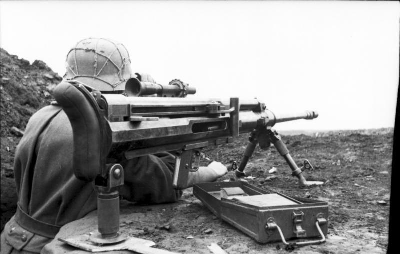 Hungarian Soldier with Anti-tank Rifle