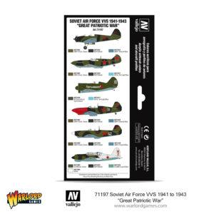 "71197 Soviet Air Force VVS 1941 to 1943 ""Great Patriotic War"" - Vallejo boxed paint set 2"