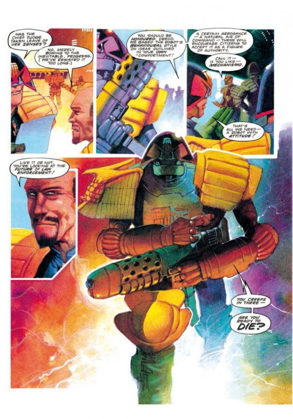 JUDGE DREDD MECHANISMO [PAPERBACK COMIC] sample