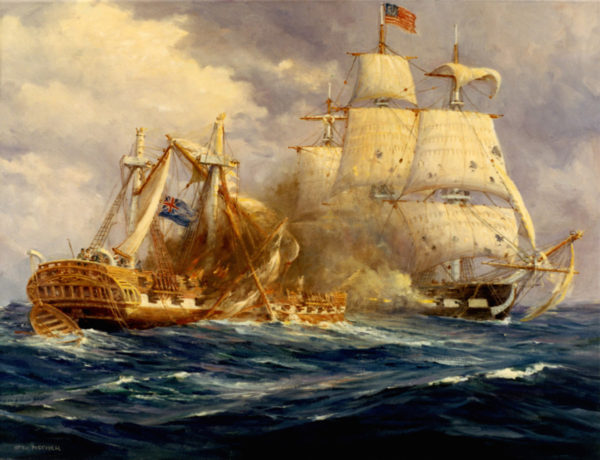Uss Constitution Vs Hms Guerriere by Anton Otto Fischer