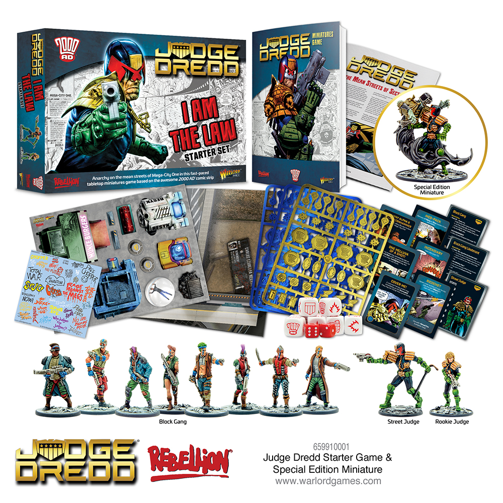 Judge Dredd Starter Game and special miniature