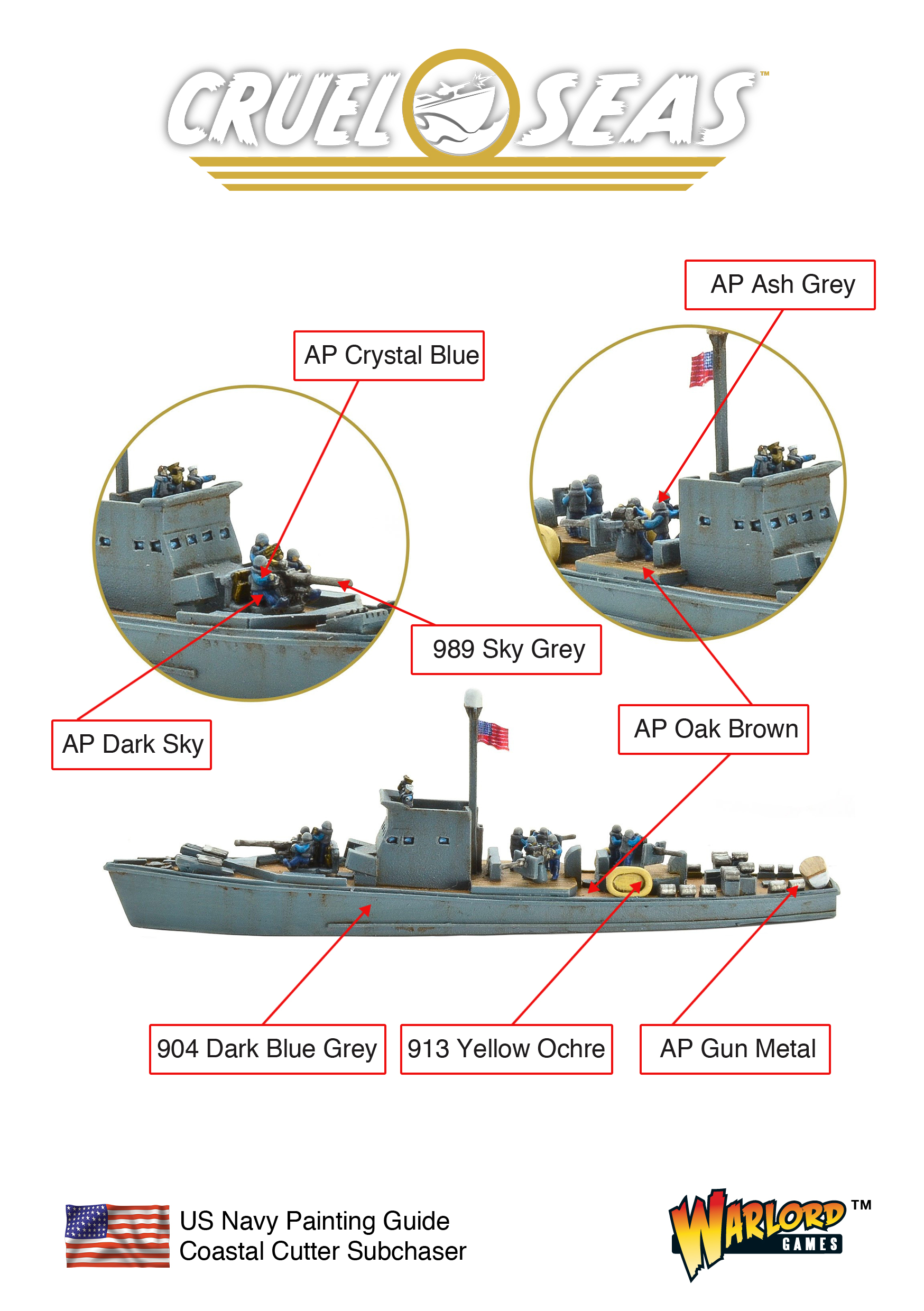 Cruel Seas US Coastal Cutter Subchaser Painting Guide