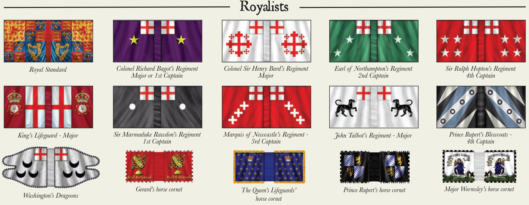 Royalist Flag Colours