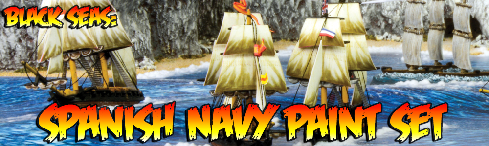 Black Seas: Spanish Navy Paint Set