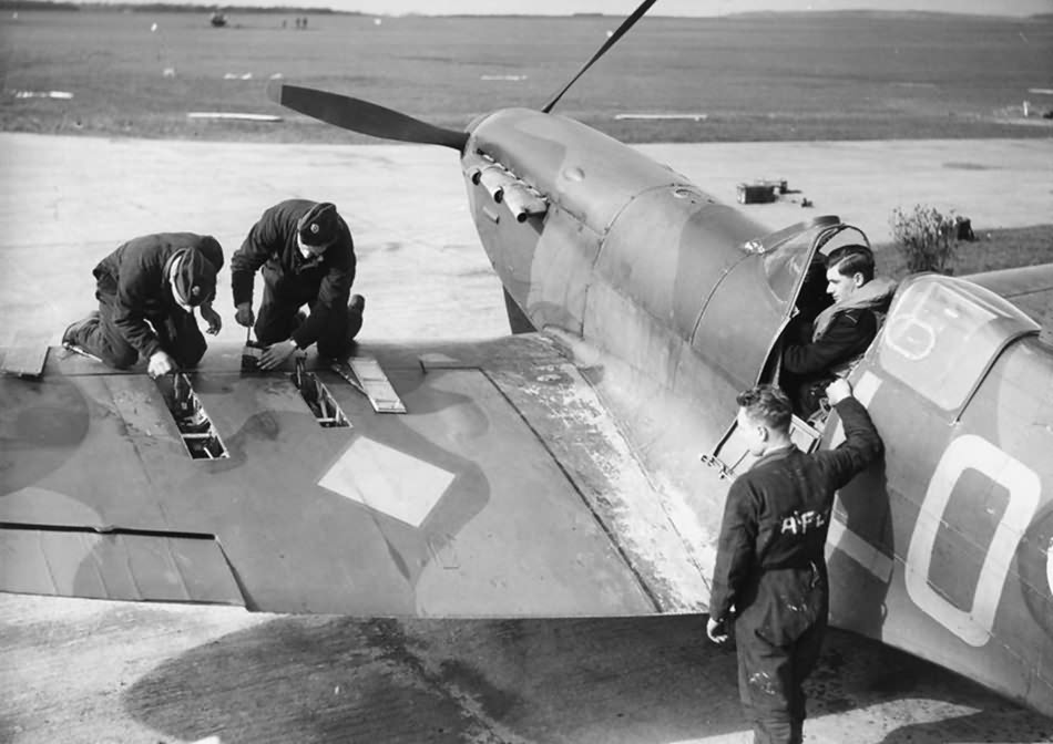 Spitfire MkI of 602 Squadron based at Drem, March 1940