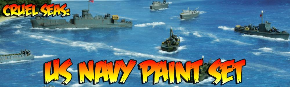 Cruel Seas: US Navy Paint Set