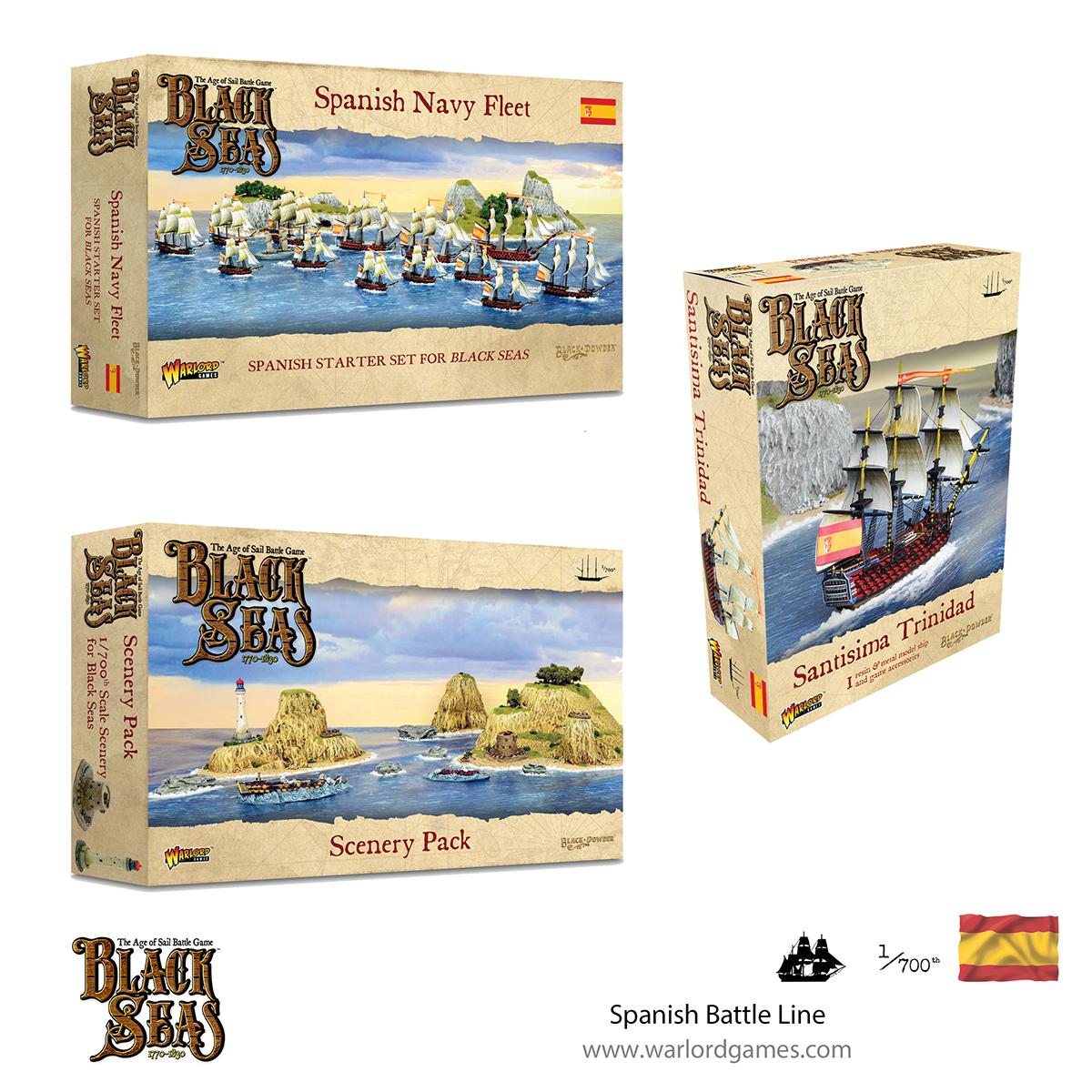 Black Seas Spanish Battle Line