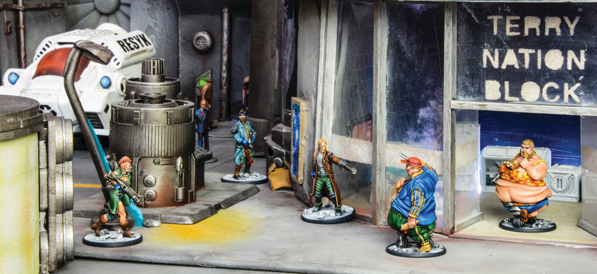 League of Fatties face a Block Gang