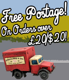 Postage free on orders over £20/$20