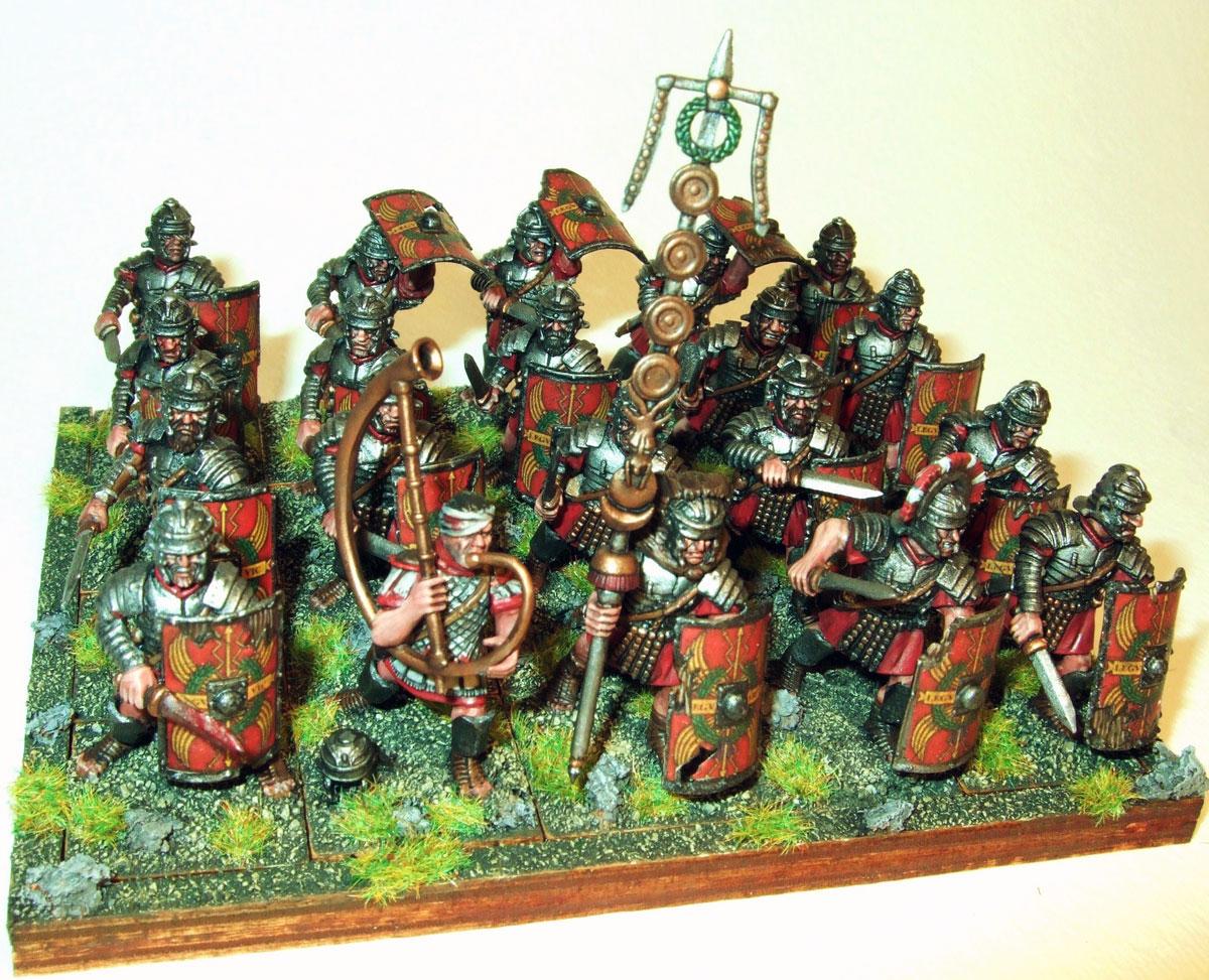 A regiment of battle-weary Imperial Roman Veteran Legionaries.