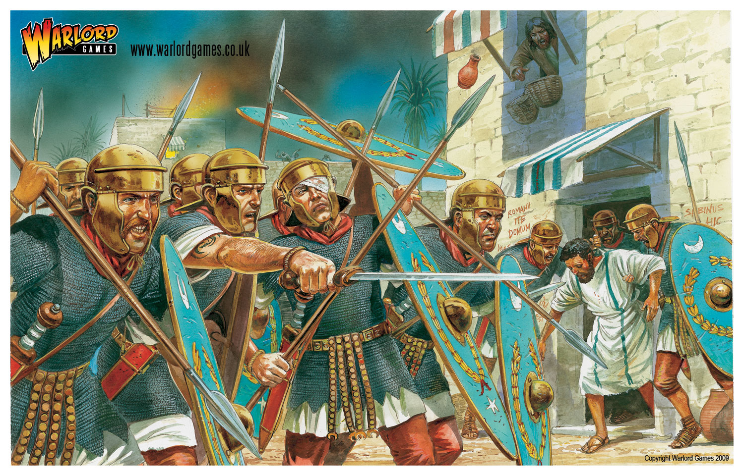 Plastic Imperial Roman Auxiliaries art by Peter Dennis