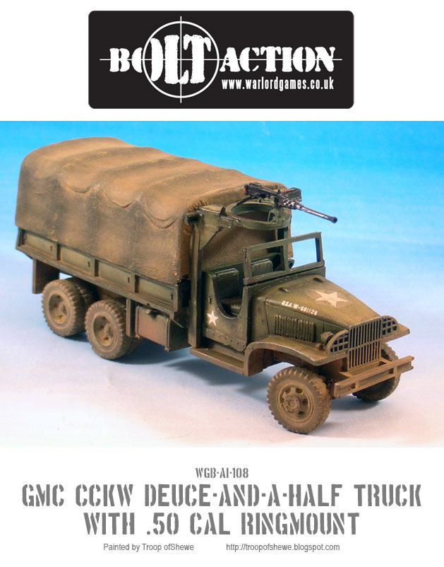GMC CCKW Deuce-and-a-Half truck with a .50 Cal in a ring mount 1