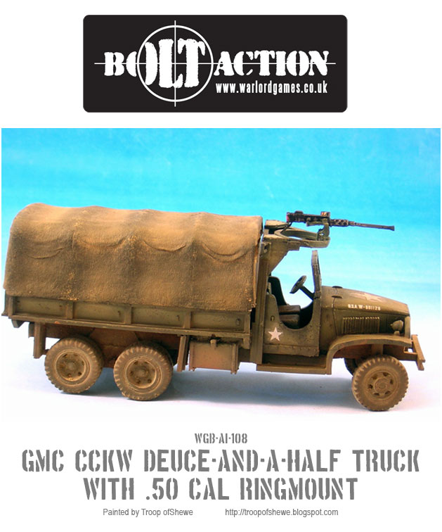 GMC CCKW Deuce-and-a-Half truck with a .50 Cal in a ring mount 3