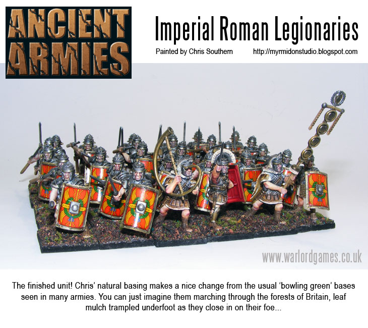 Painting Imperial Roman Legionaries - Finished Regiment