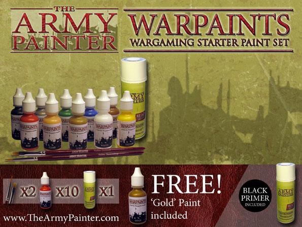 Warpaints: Wargamer Starter Paint Set - Black Primer