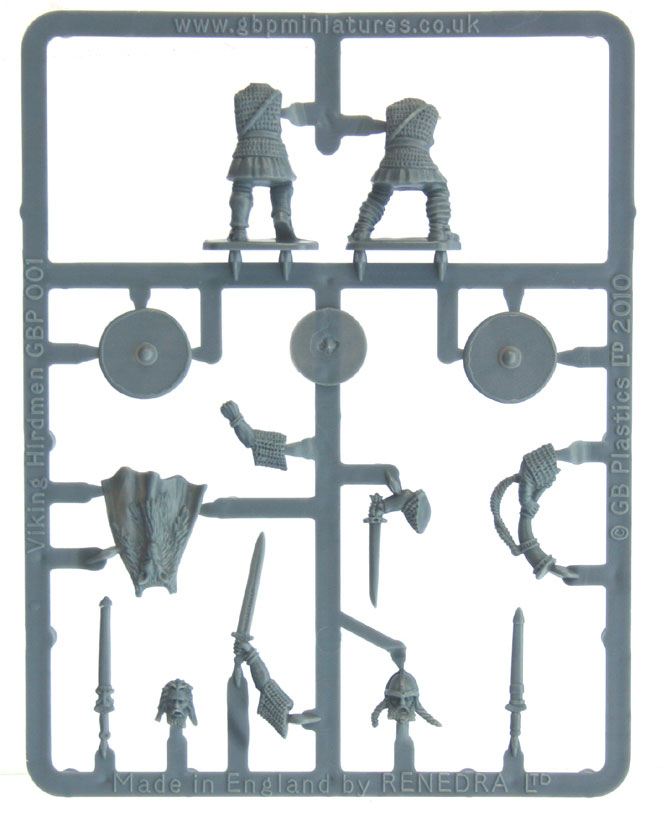 Gripping Beast Viking Hirdmen Command sprue