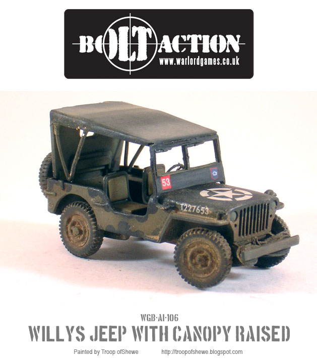Willys Jeep with canopy side