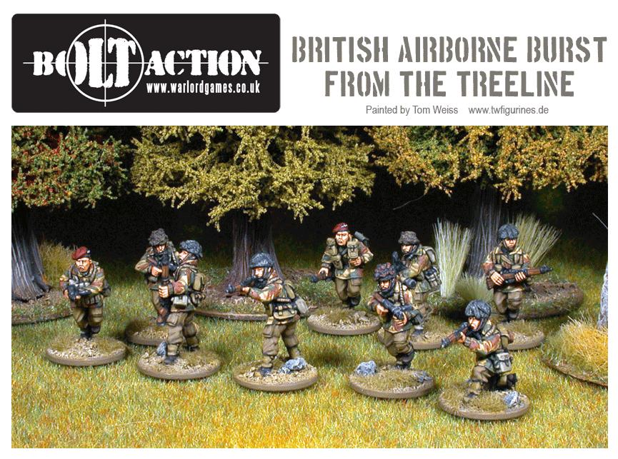 British Airborne Burst From The Treeline!