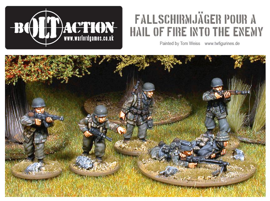Fallschirmjäger Pour a Hail of Fire Into the Enemy