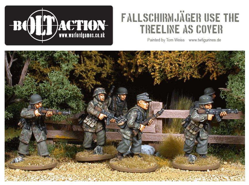 Fallschirmjäger Use the Treeline As Cover