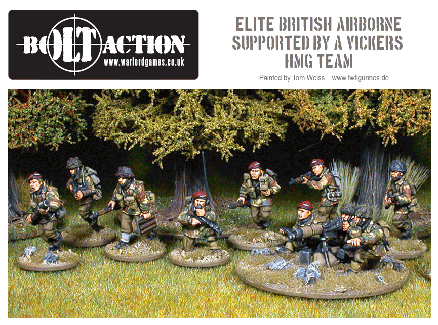 Elite British Airborne Supported By A Vickers HMG Team.