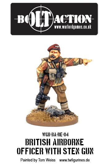 British Airborne Officer with Sten Gun
