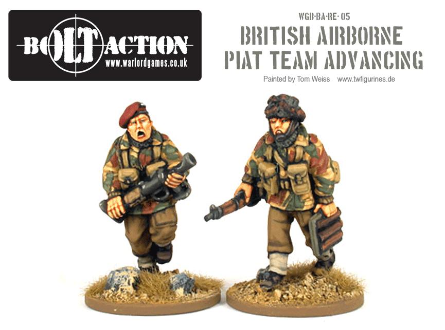 British Airborne PIAT Team Advancing