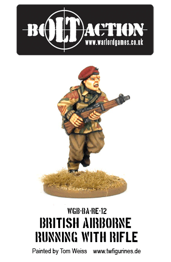 British Airborne Running with Rifle